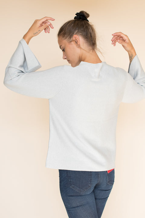 Bell Sleeved Sweater - Light Grey