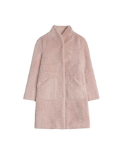 Pam Faux Fur Coat - Dusty Rose (1482206052387)