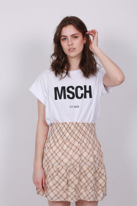 Alva MSCH STD Tee - White/Black