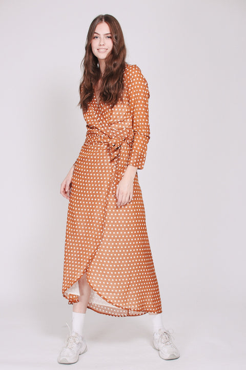 Fanny Dots Maxidress - Mustard (1865566158883)