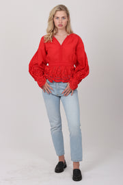 Agnes Blouse Waist - Red