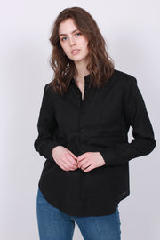 Mona Solid Blouse - Black