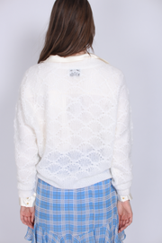 Palm Knit Cardigan - Off White (1645666926627)