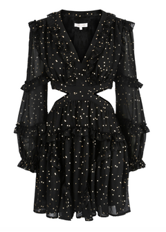 Kelly Dress - Black Gold (4325680939117)