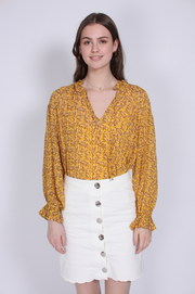 Branch LS Blouse - Daffodil (1645663813667)