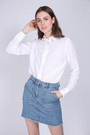 The Linen Chambray Shirt - White (1618812207139)