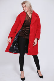 Marble Jacket - Bright Red