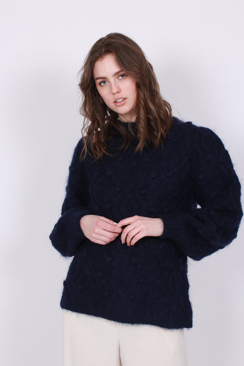 Andrea Chunky Knit Sweater - Navy