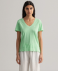D2. Sunfaded SS V-Neck T-Shirt - Pastel Green