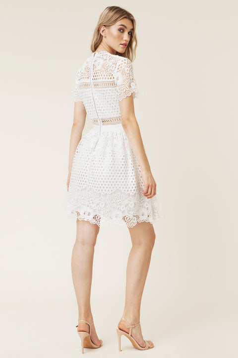 Flower Emily Dress - White
