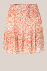 Floral MW Short Skirt - Apricot Brandy