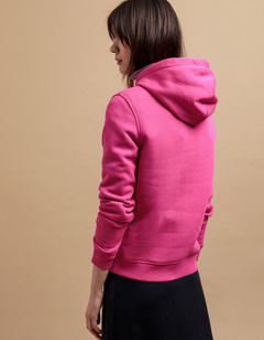 Color Lock Up Hoodie - Rich Pink