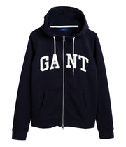 Arch Logo Zip Hoodie - Evening Blue