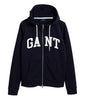 Arch Logo Zip Hoodie - Evening Blue - GANT - Gensere - VILLOID.no