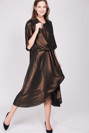 Everly Dress - Copper Sparkle Crepè