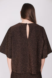 Simona Top - Copper Sparkle Jersey
