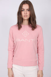 Gant Lock Up C-neck Sweat - Summer Rose (1857751023651)