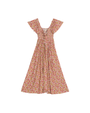 Smocking Bow Dress - Bloom