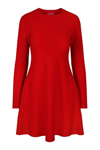 Cecilie Merino Dress - Red (4426234986605)