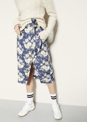 Stambecco Skirt - Blue Flower Rain