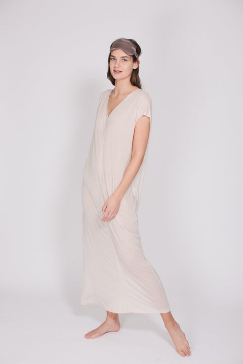 The Kaftan Dress - Natural White