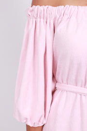 Festival Terry Solid Dress - Pink