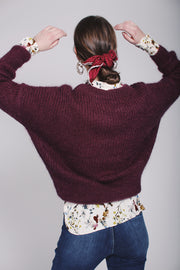 Beatrice chunky knit - Burgundy