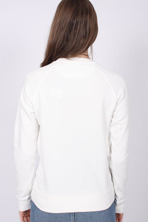 Gant Shield Logo C-neck Sweat - Eggshell (1857755480099)