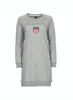 Gant Shield Logo C-neck Dress - Grey Melange - GANT - Kjoler - VILLOID.no