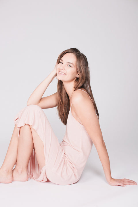 The Slip Dress : Tencel - Nude Pink