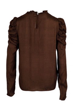 Letty Jaquard Blouse - Mocca