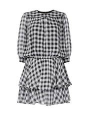 Samantha Check Dress - Black