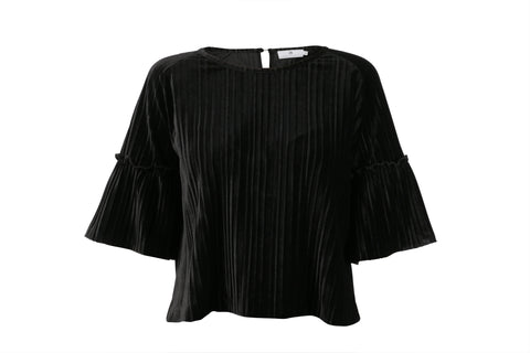 Sort Arniesays: Halcyon Velvet Pleat Topp