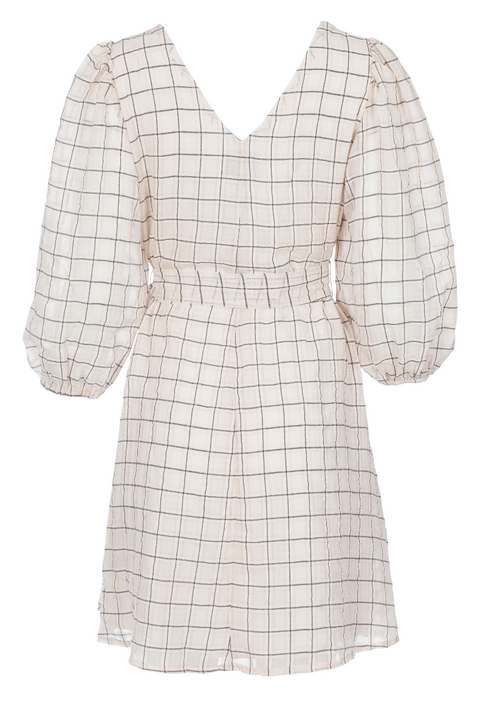 Manua Check Dress - Camel