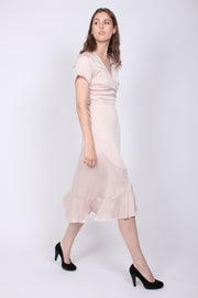 Magga Solid Dress - Powder (1809069047843)