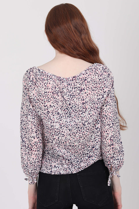 Ditzy flower blouse - Strawberry Pink