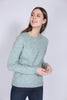 Brook Knit New o-neck - Aqua Haze - Second Female - Gensere - VILLOID.no