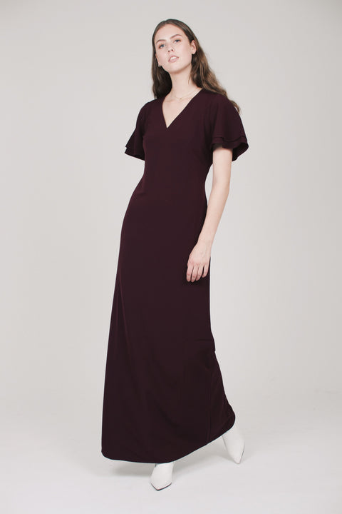 Maxi Column Dress - Vineyard wine (1865550364707)
