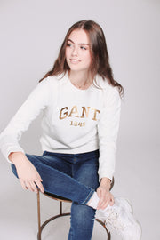 Gift Giving Logo Sweat - Eggshell (1476727013411)