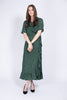 Image Maxi Wrap Dress - Green Dot - Just Female - Kjoler - VILLOID.no