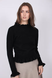 Valeria Alpaca Sweater - Black