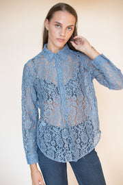 Mona Laceshirt - Light Blue