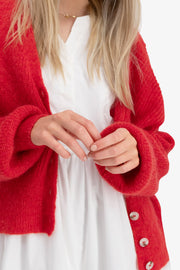 Precise Cardigan - Bright Red