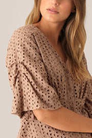 Milly SS Blouse - Praline