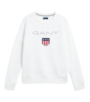 Gant Shield Logo C-neck Sweat - Eggshell