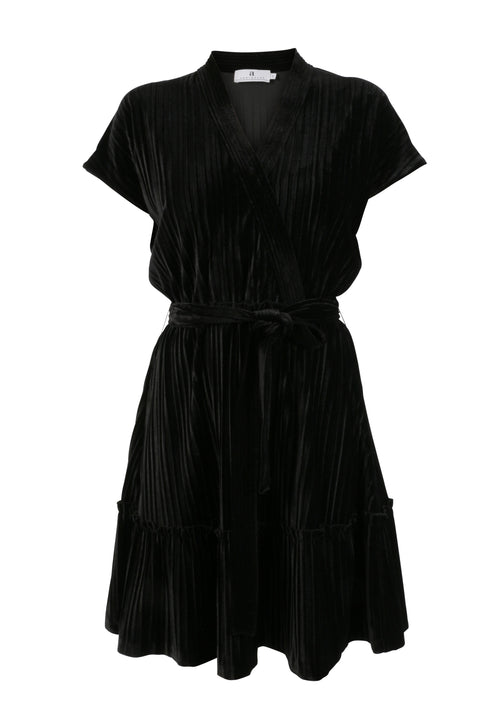 Sort Arniesays: Alysia Velvet Pleat Kjole