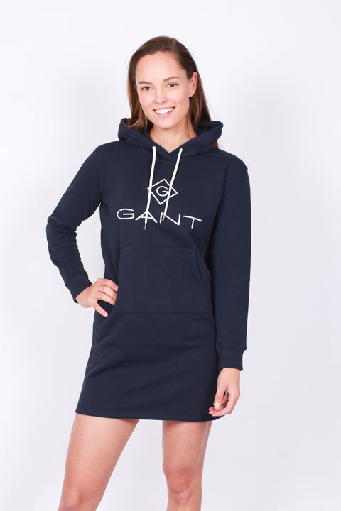 Lock Up Hoodie Dress - Evening Blue