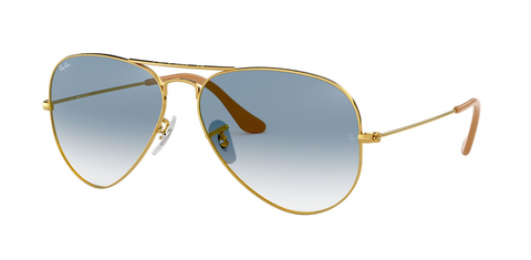Aviator Large Metal - Crystal Gradient Light Blue (1724729917475)