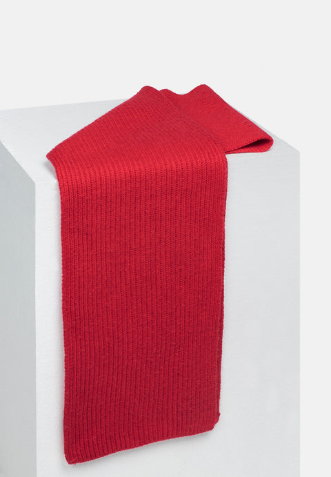 Wool Scarf - Red