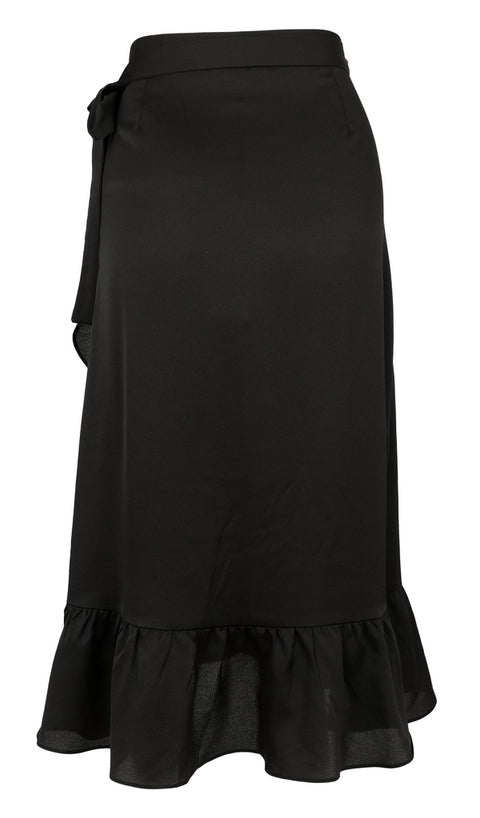 Mika Solid Skirt - Black (4294560448621)